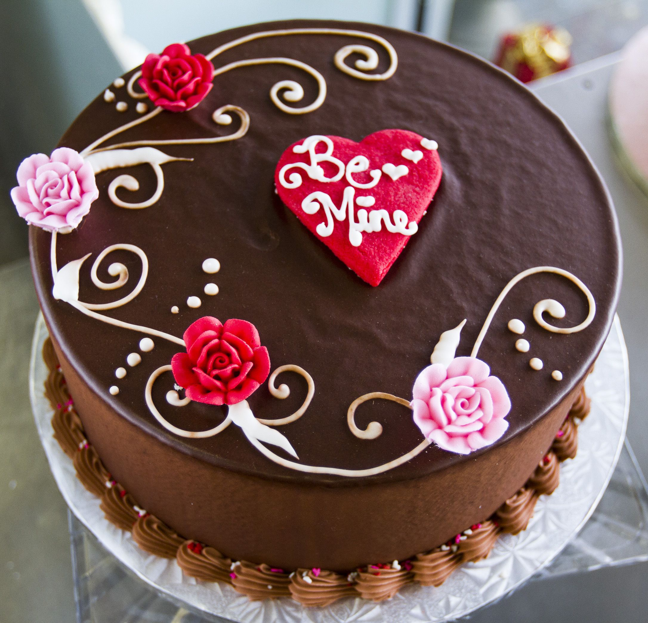 Be Mine Valentines Day Cake From @Dewey