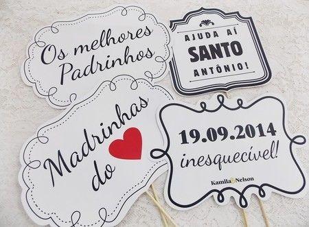 Kit De Plaquinhas Frases De Casamento 10 Unid Ateliê Cris