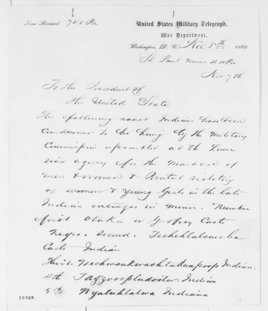 MdenneyS Image  This Letter To President Lincoln Lists The