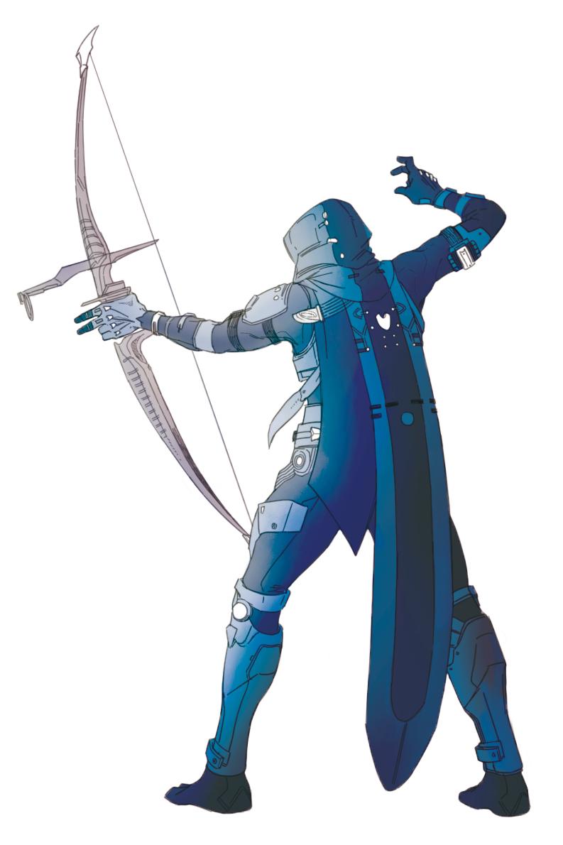 Destiny Destiny 2 Guardian Hunter D1 D2 Bow Arrow Destiny Comic Destiny Hunter Destiny
