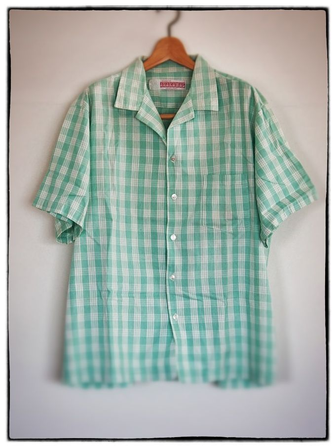Arakawas Old Palaka shirts Peppermint green
