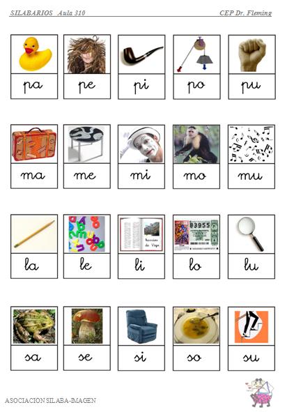 Lamina1s Png 412 591 Silabas Lecto Escritura Preescolar Lectura