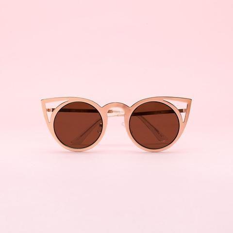 cat eye metallic sunglasses