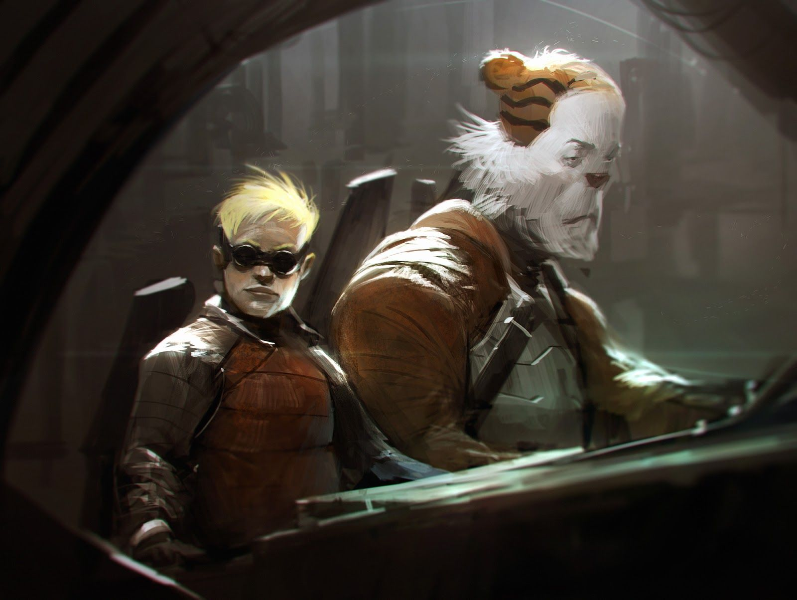 Calvin and Hobbes in a Dark Gritty Future by Anthony Jones
