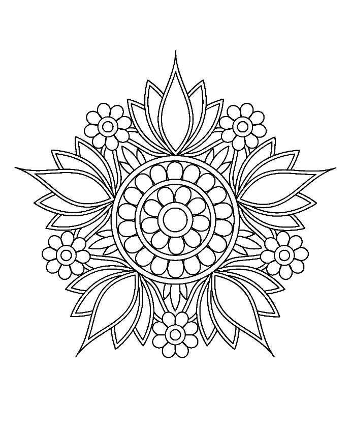 Mandalaa Mandala Design Mandala Malvorlagen Mandala Muster