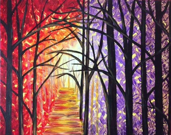 Backwoods Glow Painting, Artwork, Paint, sip