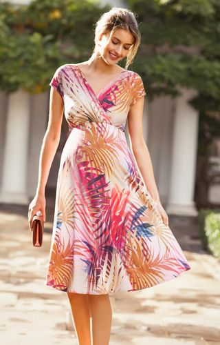 b6383a00dbf Alessandra Maternity Dress Short Hot Tropics by Tiffany Rose