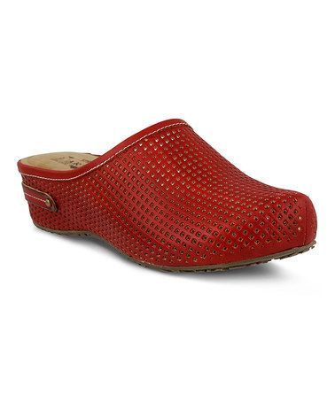 Another great find on #zulily! Red Luisa Leather Clog #zulilyfinds