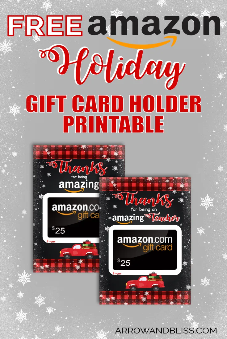 Photo of Free Printable Holiday Gift Card Holder for Amazon –  Free Printable Holiday Gif…