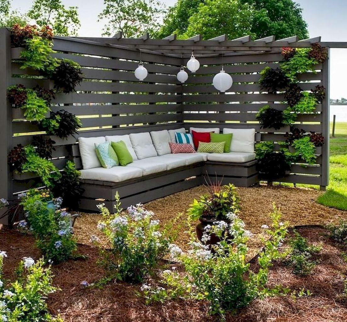 68 Easy And Cheap Privacy Fence Design Ideas