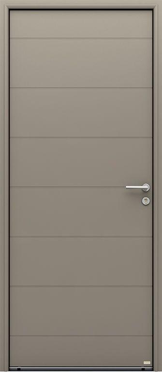 Porte d\u0027entrée aluminium contemporaine sans vitrage Dorval - Peinture Porte Et Fenetre