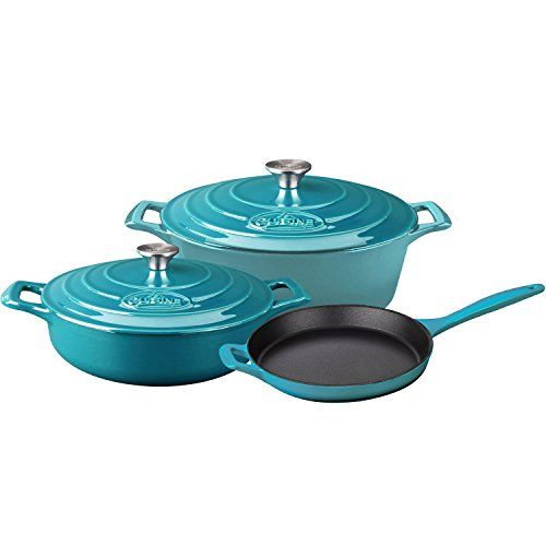 La Cuisine Enameled Cast Iron Oval Covered Dutch Oven