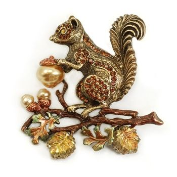 Shelley Cooper squirrel harvest pin