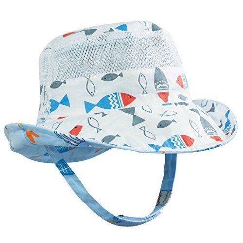 071d4e2e8fc Eriso Baby Toddler Plaid Bucket Reversible Sun Protection Animal Hat Hats  Shoes  Eriso