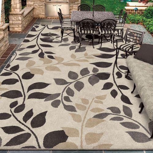 Easy Living Indoor Outdoor 7 10 X12 Rug Torello Ivory Home
