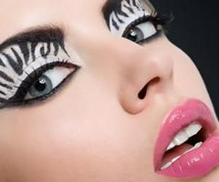 Fashion Eyeshadow Zebra Crazy Eye Makeup