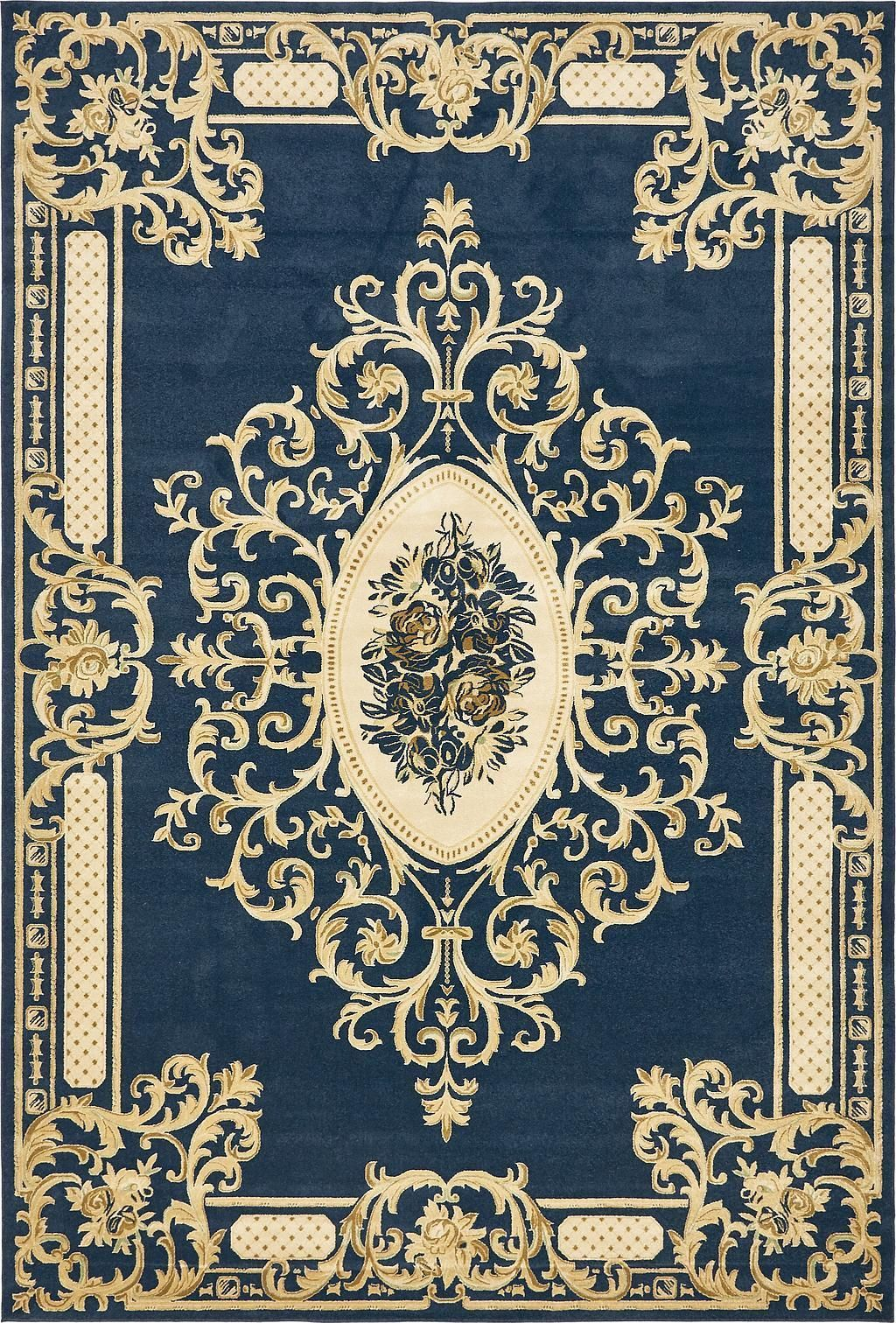 Navy Blue 10 39 X 14 39 5 Victoria Rug Area Rugs Esalerugs Dollhouse Rug Rugs Rugs On Carpet