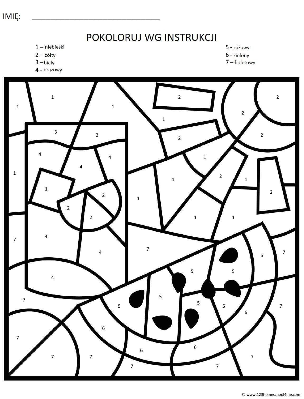 Pin By Martyna On Wakacje Numbers For Kids Kindergarten Centers Kindergarten Art