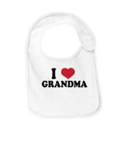 I Heart Grandma Bib