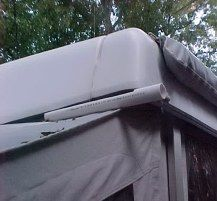 DIY gutters to catch AC drips  The ones we made go all the way