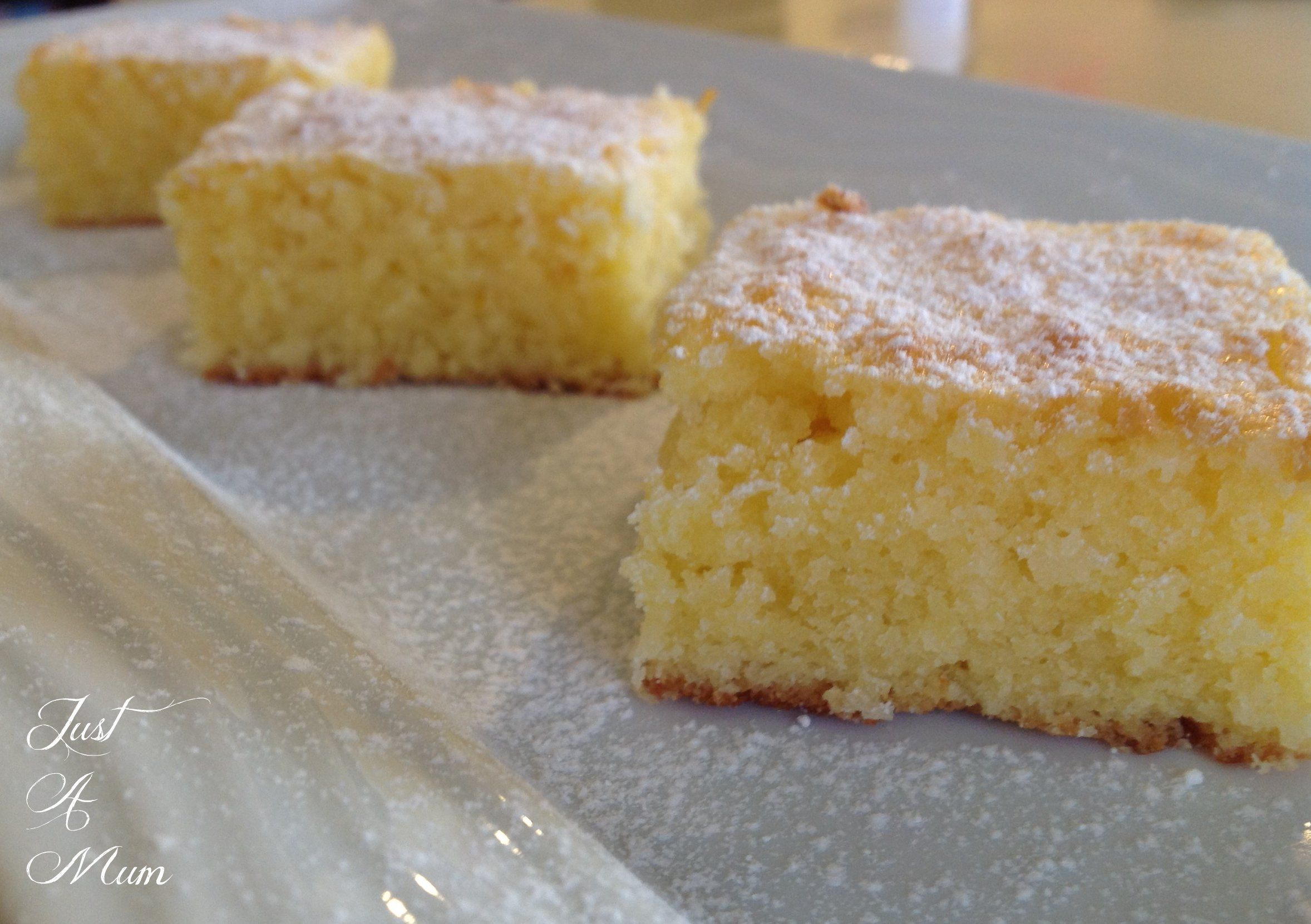 Lemon and Coconut Slice - made this with lime and it is wonderful!