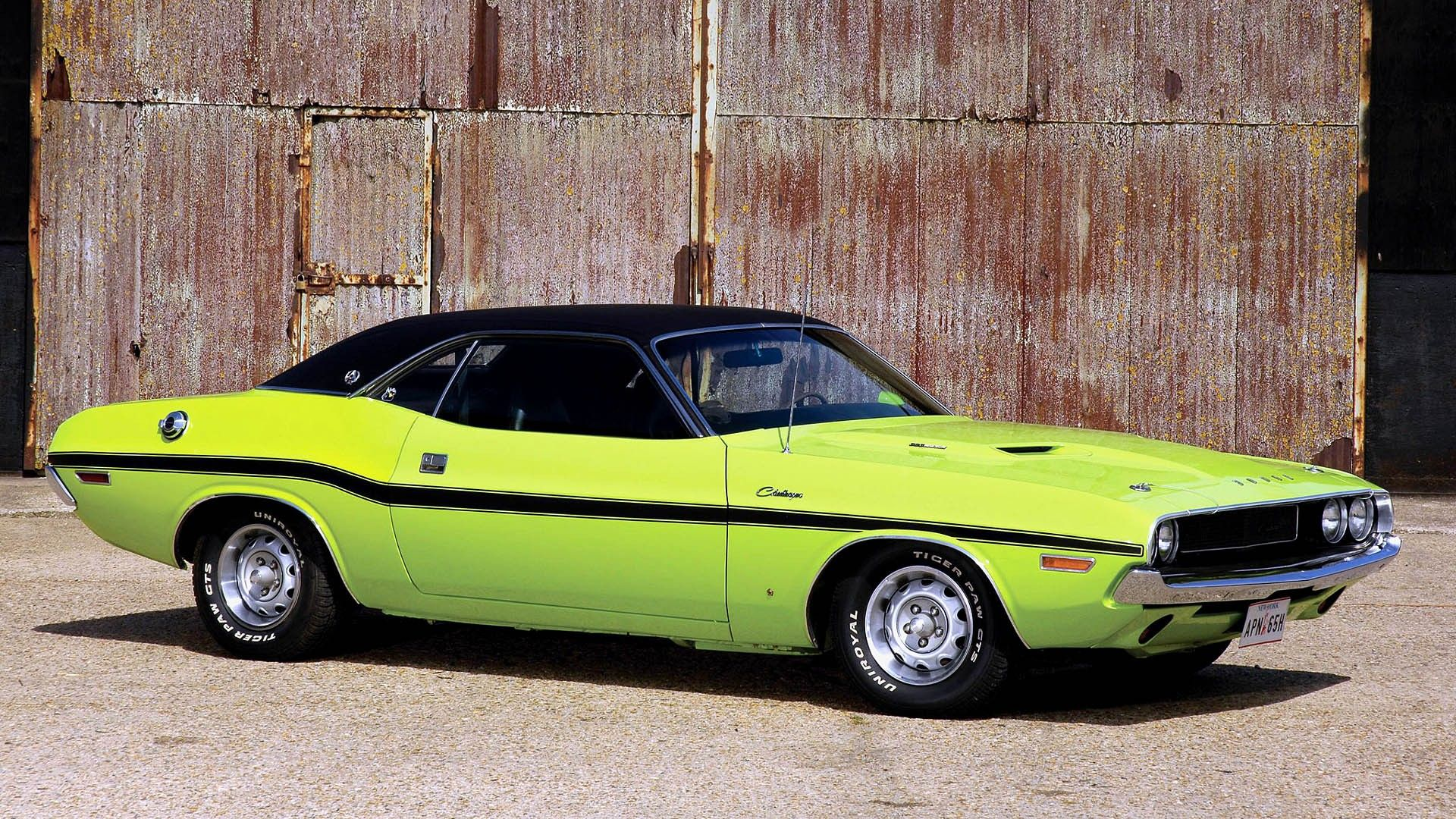 Dodge Challenger cars classic muscle vehicles wallpaper » Holy ...