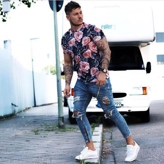 Macho Moda - Blog de Moda Masculina  CALÇA DESTROYED MASCULINA  Como Usar e  Onde Comprar Online  Calça Rasgada Masculina a7d01a75c7f