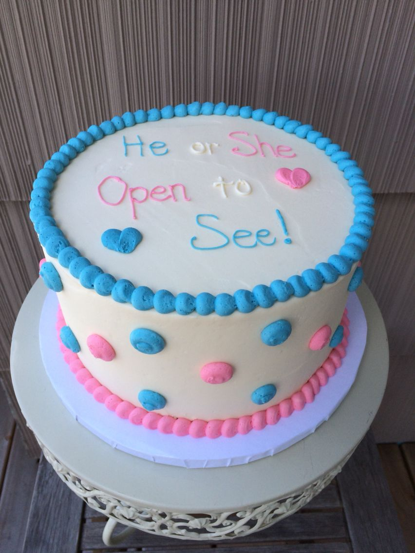 Gender Reveal Cake Vanilla Bean Cake Filled With Gender Revealing
