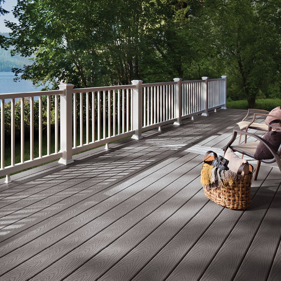 Trex Select Pebble Grey Fascia 12 X 12 Schillings Building A Deck Vinyl Deck Outdoor Flooring Options