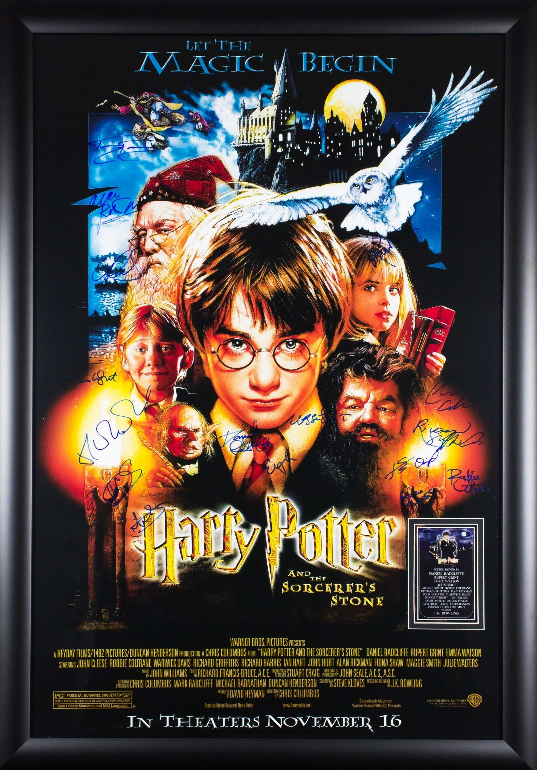 Harry Potter And The Sorcerers Stone Signed Movie Poster