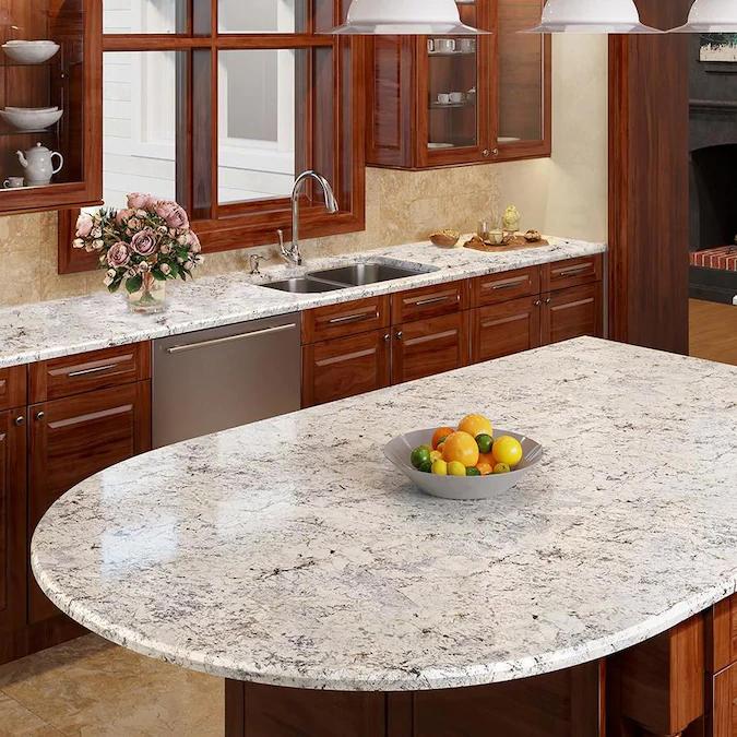 Allen Roth Sierra Blanca Granite Kitchen Countertop Sample Lowes
