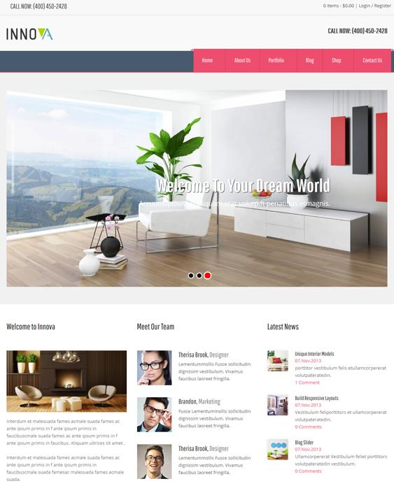 22 Of The Best Interior Design Furniture Wordpress Themes