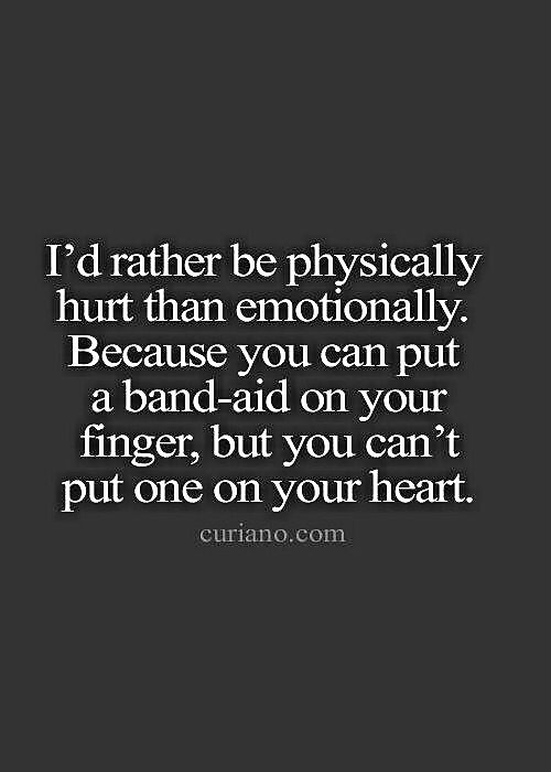 I'd Rather Be Physically Hurt Than Favorite Quotes Magnificent Hurtful Love Quotes