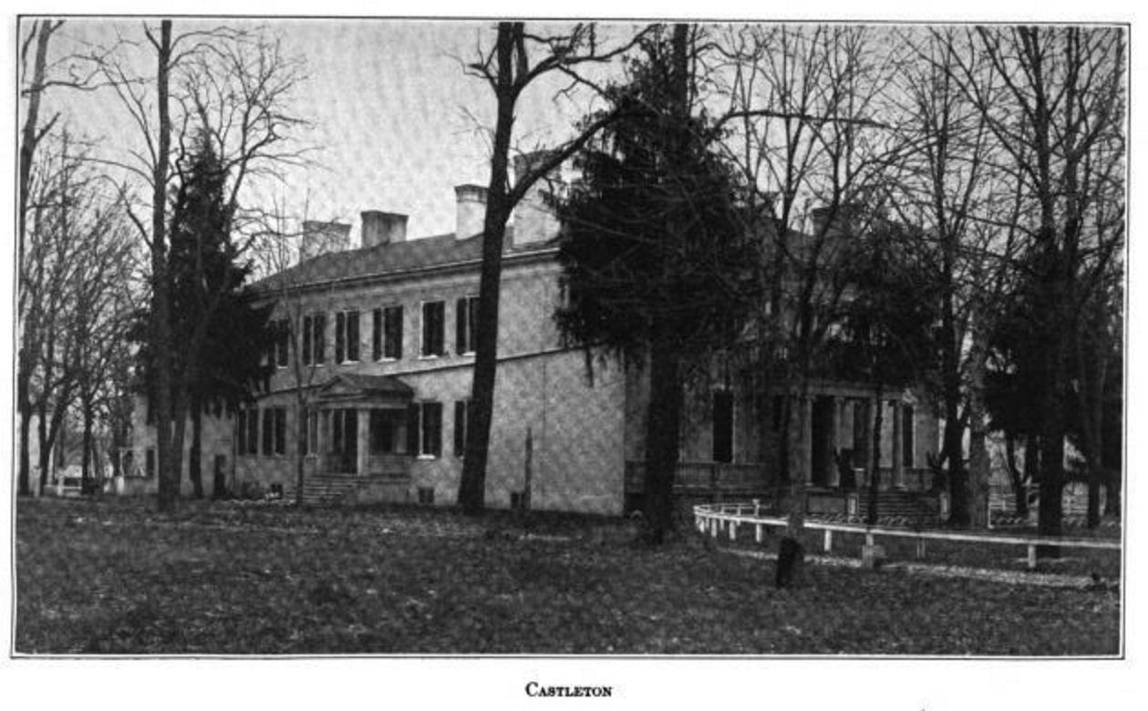 Castleton The Homestead Of David Castleman In Fayette County Kentucky For A Description See Active Service By John Fayette County Louisville Ky Fayette