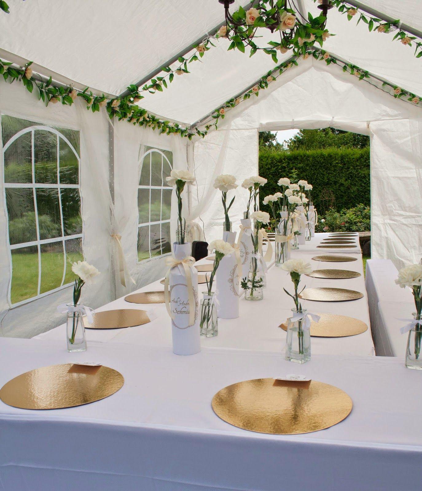 Handcraftmarie Unsere Hochzeitsdeko Tischdeko Gold