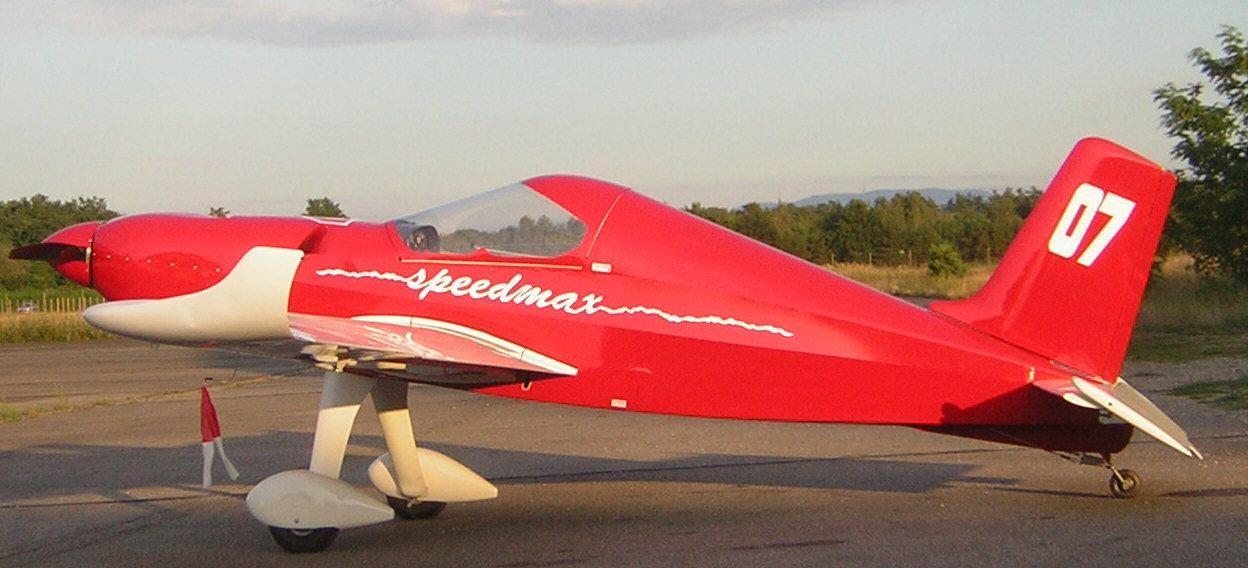 le Speedmax construit par Patrice Houdé sur l'aérodrome de Haguenau