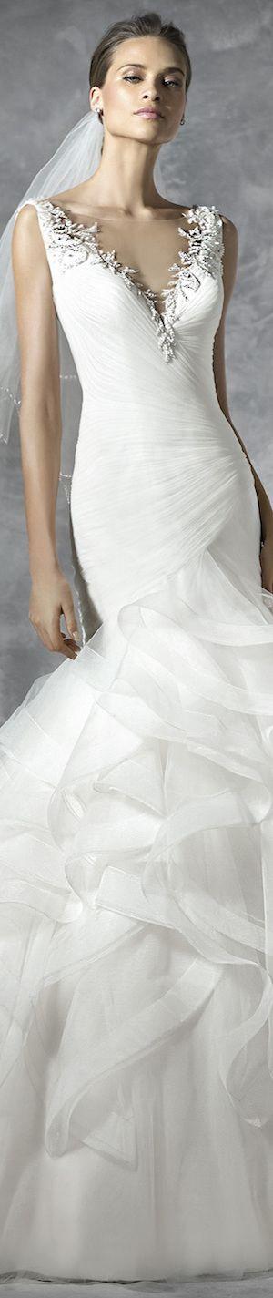 PRONOVIAS BRIDAL GOWNS 2016 PRECIOUS WEDDING GOWN