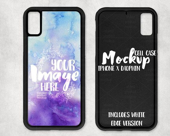 Sublimation Iphone X Dauphin Case Template Mockup Add Your Etsy Dauphin Free Psd Mockups Templates Mockup Free Psd