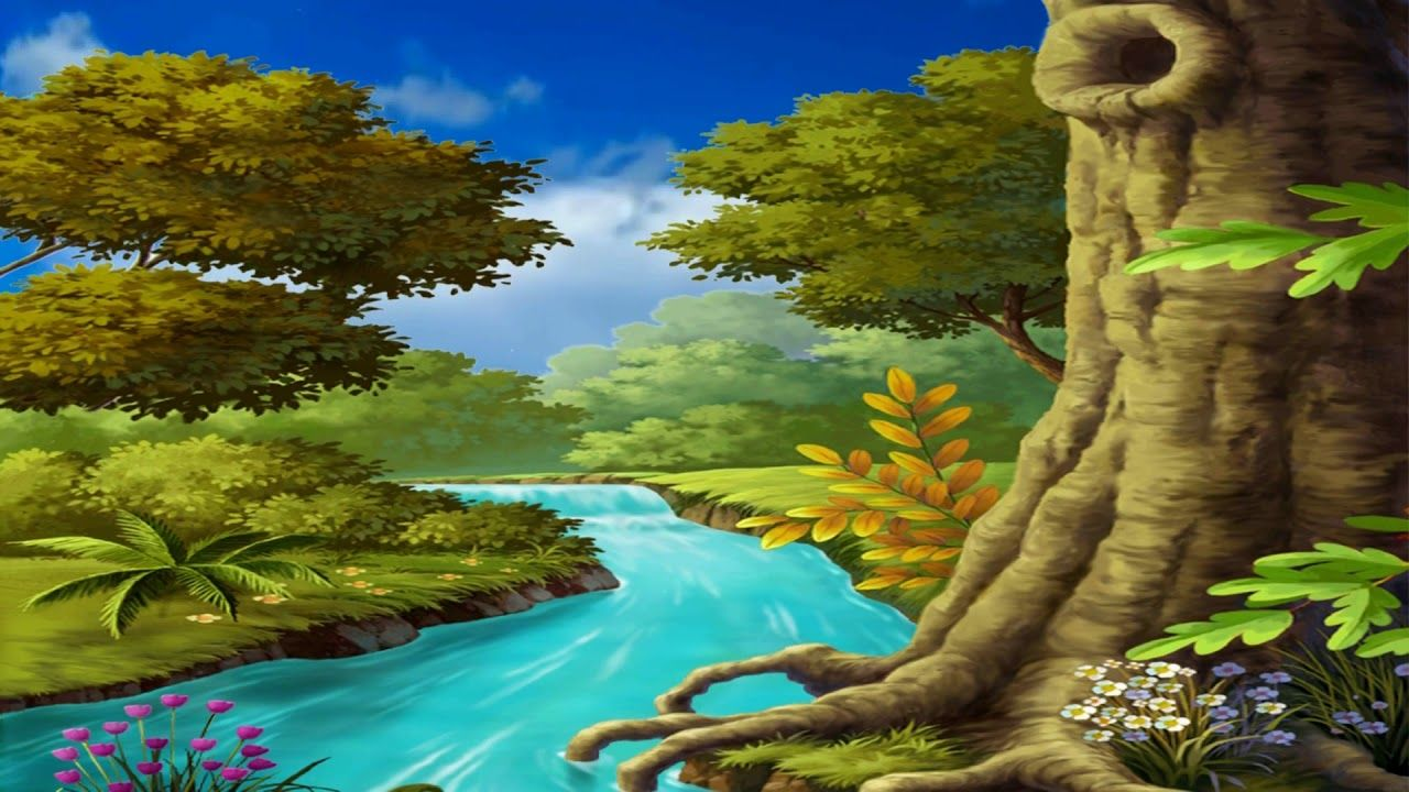 Beautiful 3d Animation With Nature Waterfall Scenery 3d Background Vide Waterfall Scenery Scenery Landscape Wallpaper