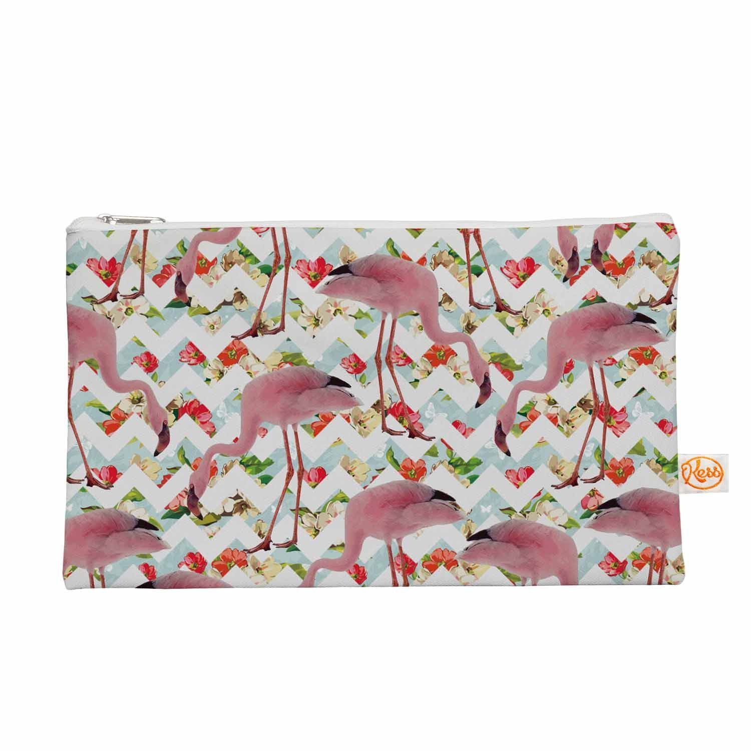Suzanne Carter Flamingo Chevron Roses Pink Digital Everything