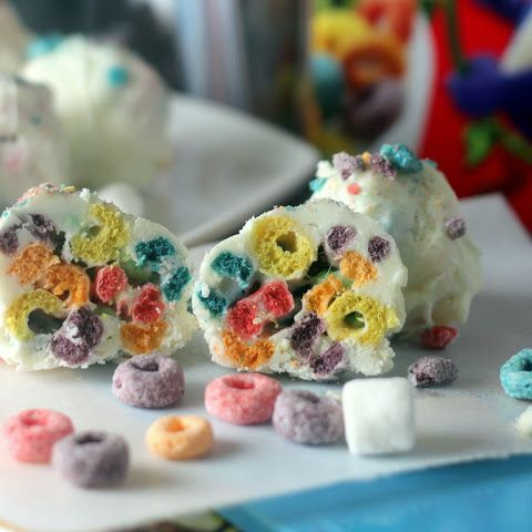 Froot Loops Marshmallow Bombs