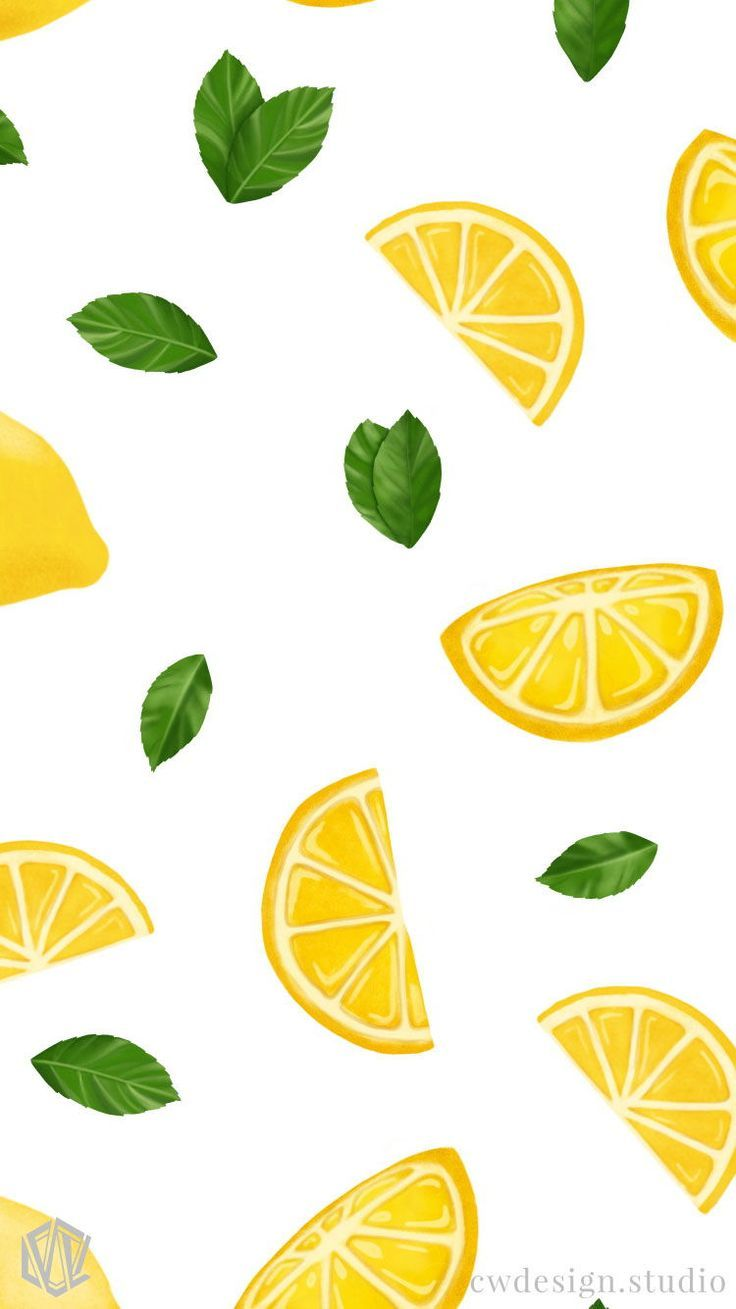 Lemon & Blueberry wallpaper background iphone, ipad, imac -  REzepteInfinity -