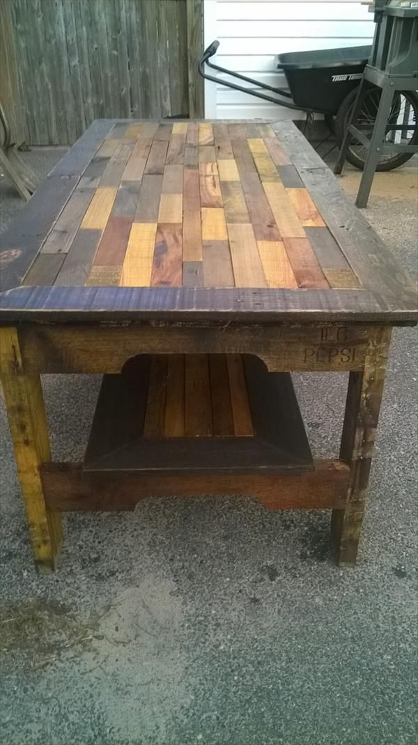 Diy Large Pallet Coffee Table Pallet Furniture Diy
