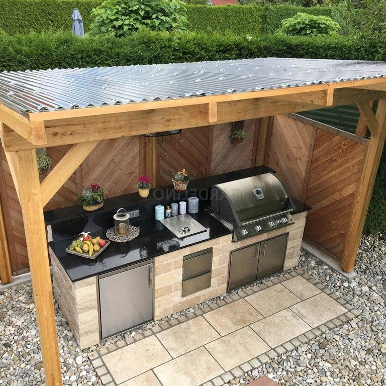 20 pretty outdoor kitchen ideas that ll surprise your guests outdoor bbq kitchen small on outdoor kitchen bbq id=56510