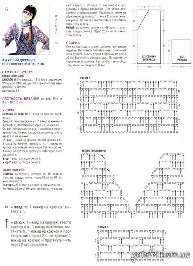 Pin de Andrea Sellés en Puntos a crochet | Pinterest | Croché ...