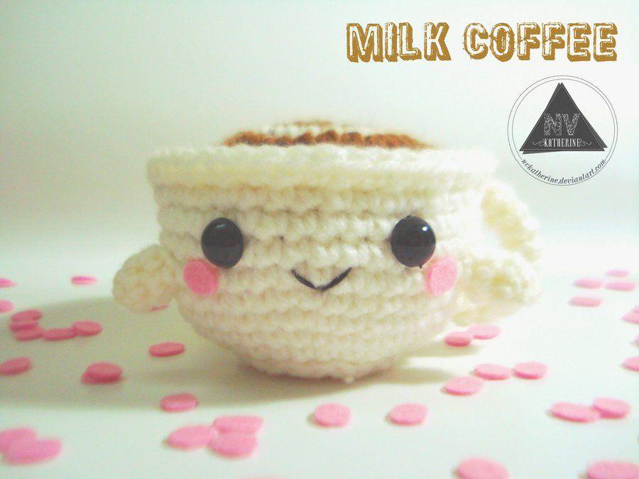 Milk Coffee Cup Milchkaffee Kostenlose Anleitung Ideen
