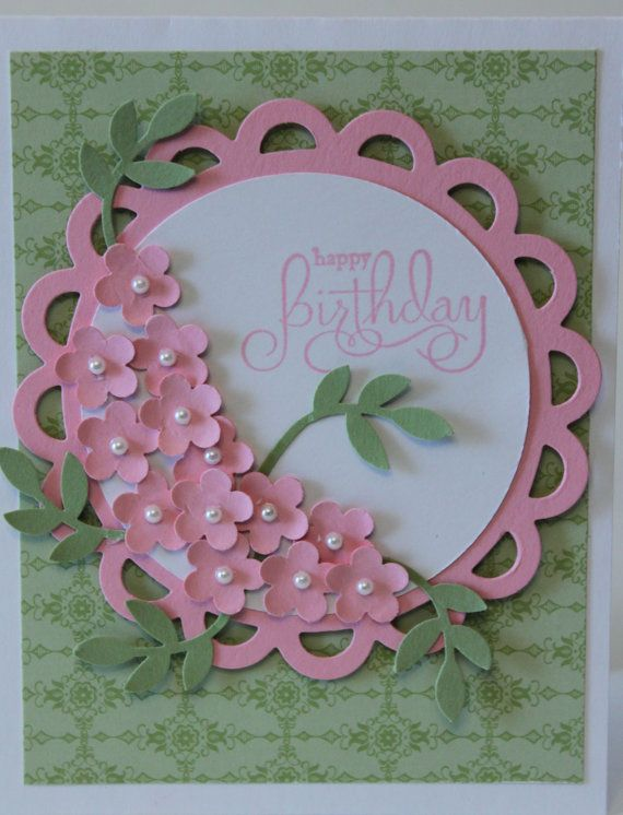 Happy birthday flower bouquet card stampin up handmade flower happy birthday flower bouquet card stampin up handmade m4hsunfo