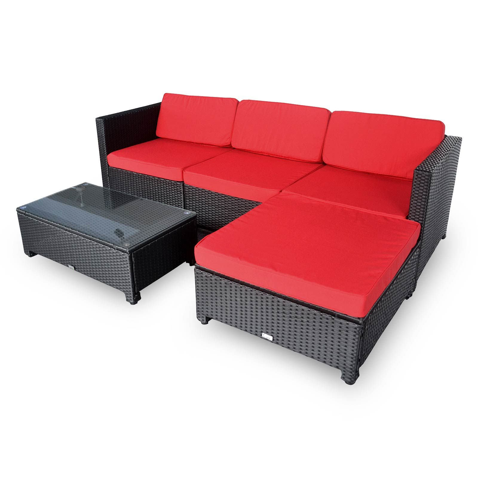 Best Buy Luxo Milton Modular Outdoor Sofa Set Red Online 400 x 300