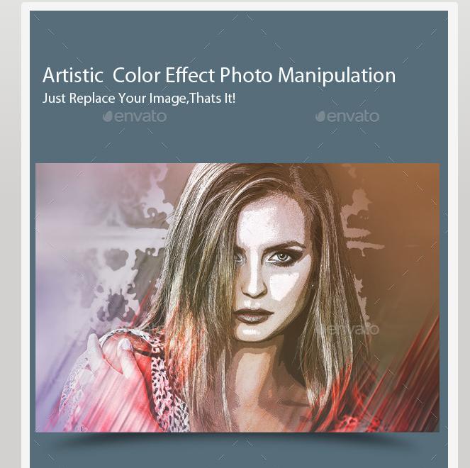 Artistic Color Effect Photo Manipulation
