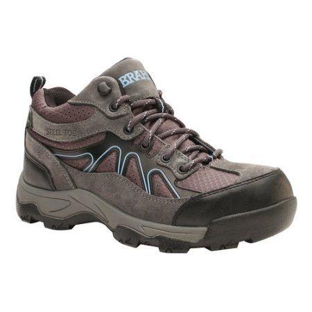 Brahma Karen Womens Grey Steel Toe Work Boots 6 M US >>> Find out